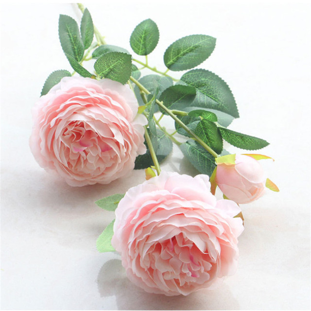 1 pc Artificial Flower Silk Peony Bouquet Necessaries Wedding Decor