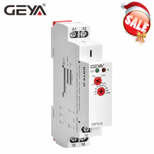 цена на GEYA GRT8-D True Delay off Timer Relay without Supply Voltage AC/DC12V-240V Din Rail Electronic Relays