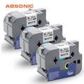 Absonic 3 шт. этикетки ленты TZe-261 TZ-261 черный на белом 36 мм кассеты ленты заменить Brother P-Touch PT9700PC PT9800PCN пишущая машинка