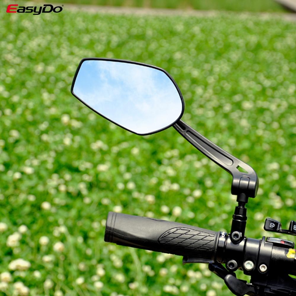 EasyDo-espejo retrovisor Reflector para manillar de bicicleta, HD, ángulos ajustables de amplio alcance