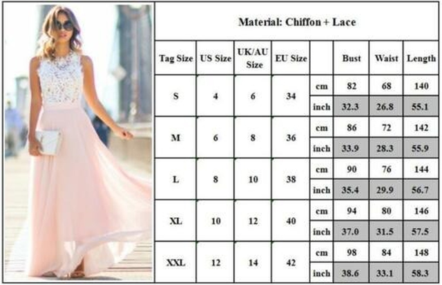 Women Long Maxi Dress Bridesmaid Lace Party Dress Fashion  Sleeveless Wedding Party Elegant Casual Wear 4