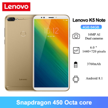 Lenovo Snapdragon 450 K5 Note 4G LTE 64GB 4gbb Octa Core Fingerprint Recognition 16MP