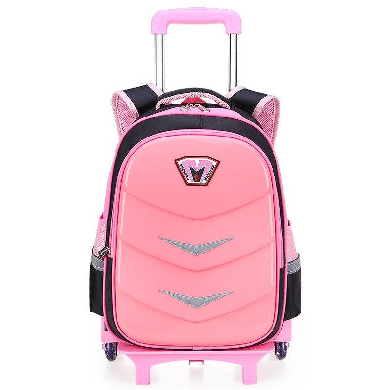 Children Trolley Backpack School Bags For Boys Grils Wheeled Bag Student Detachable Rolling Backpacks Women Travel Bag Mochila