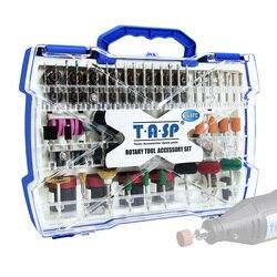 268 pçs mini broca conjunto dremel estilo ferramenta giratória acessórios kit abrasivo moagem lixar polimento ferramentas de corte para diyer