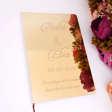 Пользовательские акриловые зеркала белая пустая Гостевая книга для свадьбы Подпись Гостевая книга для крещения, для торжеств и вечерние св...