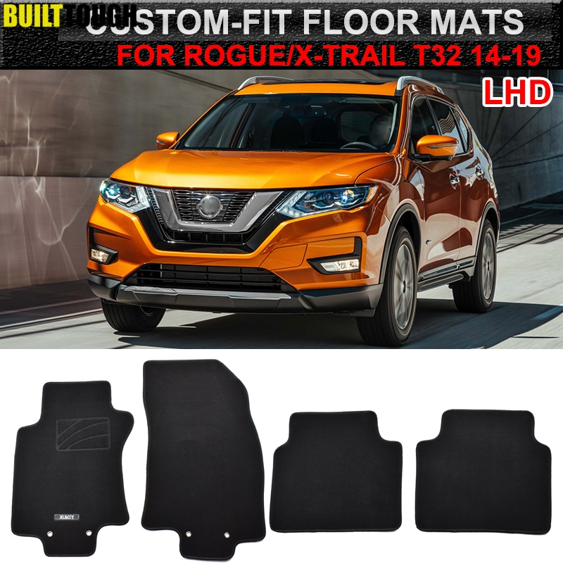 Mats Carpet-Liner Floor-Mat Nissan Rogue Xtrail Custom Car for 4pcs Nylon Front-Rear title=