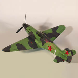 Model Building-Set Paper-Card Fighter Yak-1 Construction-Toy DIY 3D 1:35 Soviet