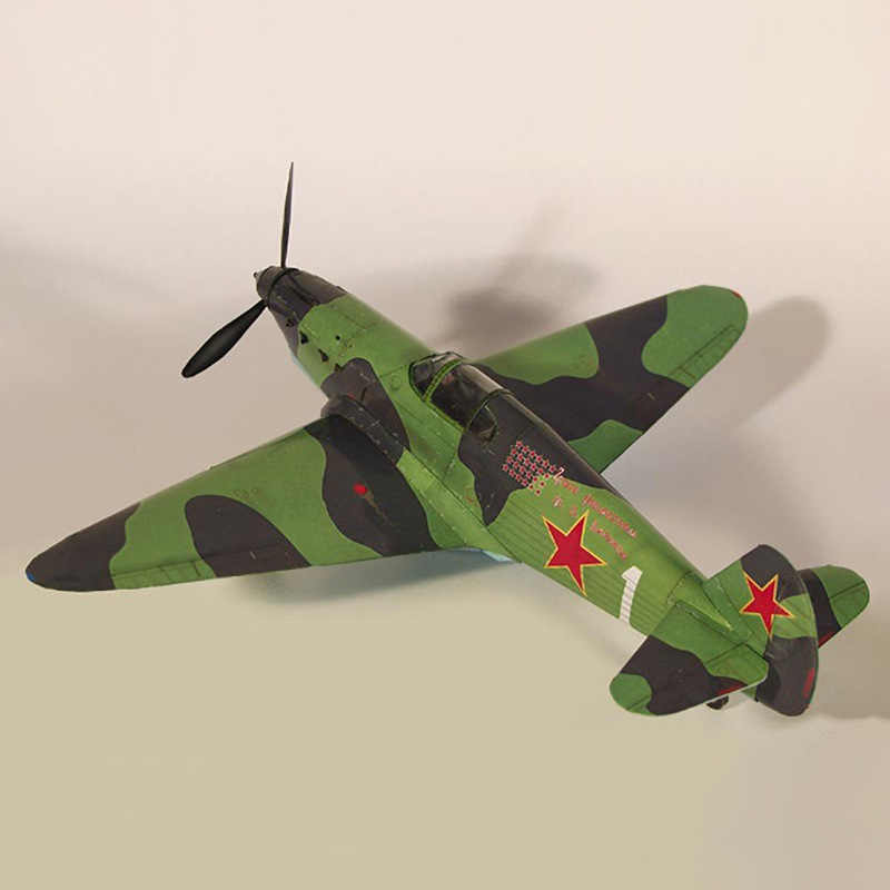 1:35 Sovjet Yak-1 Vechter Diy 3D Papieren Kaart Model Building Set Educatief Speelgoed Militaire Model Bouw Speelgoed