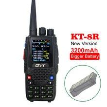 QYT Walkie Talkie KT 8R, 5W, 3200mAh, Quad Band, estación de Radio aficionado, intercomunicador KT8R, transceptor FM con pantalla a Color