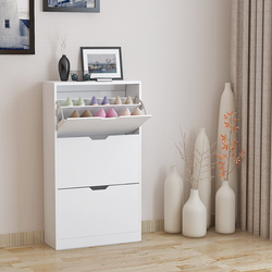 Panana Shoe Storage Cupboard Cabinet Rack 3 Drawer White Fast delivery