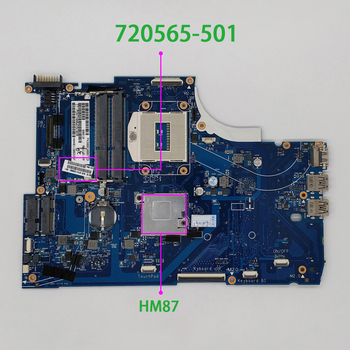 720565-501 720565-001 720565-601 for HP Envy 15 15-J Series 15T-J000 UMA HM87 DDR3 Laptop PC Motherboard Mainboard Tested 926283 601 926283 001 dag94cmb6d0 uma w a9 9420 cpu for hp laptop 15 cd series 15z cd000 pc motherboard mainboard tested
