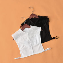 Linbaiway grand revers Faux Col pour femmes chemise blanc Faux colliers femme détachable Col Faux Col dame robe Nep Kraagie