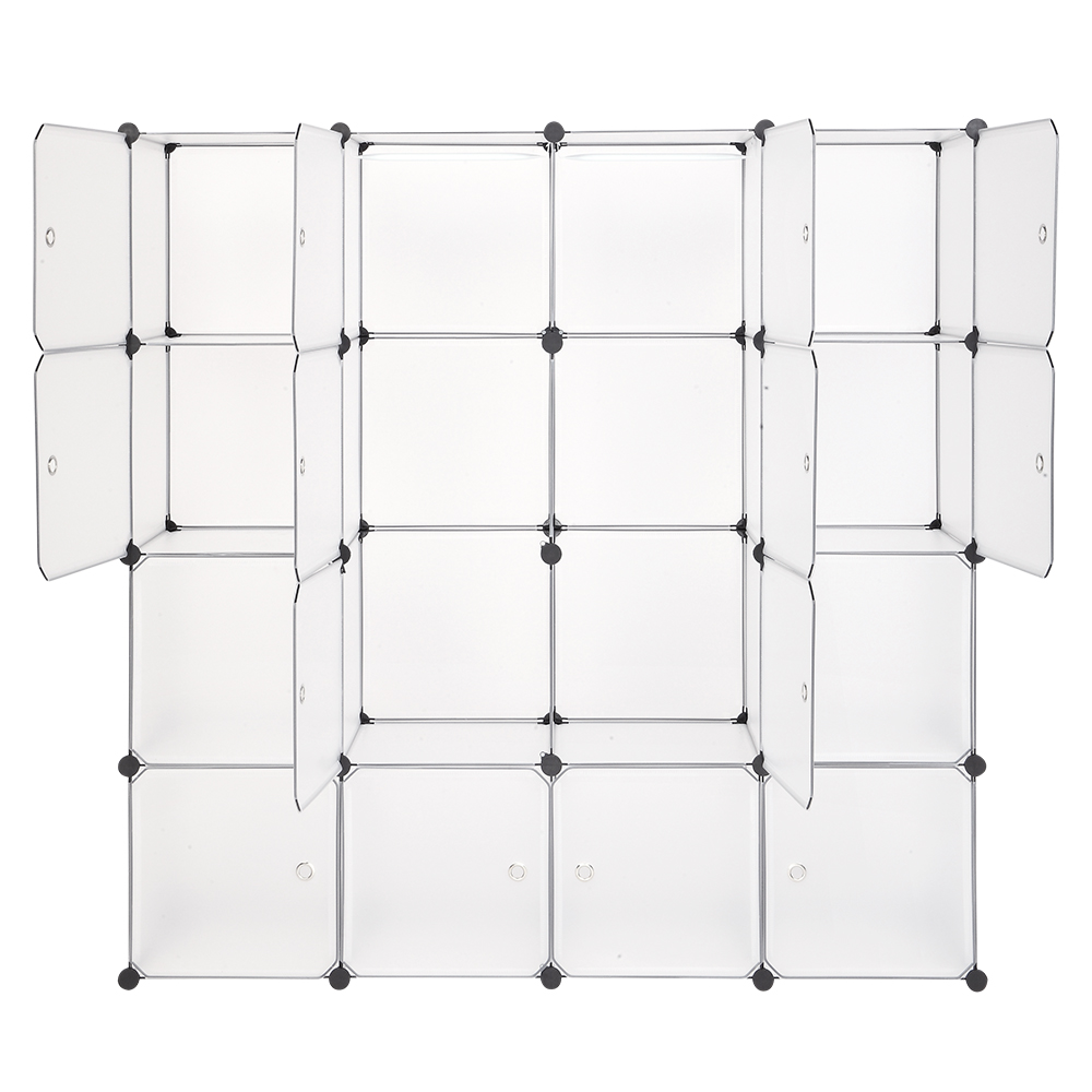 16/20Grid Foldable шкаф для одежды Wardrobe Plastic Combination Cube Storage Closet Cabinets Clothes Organizer Bedroom Furniture