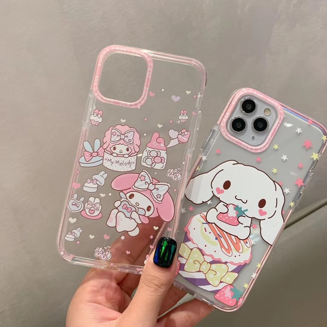 INS Cartoon Duffy Bear stellalou Japan cat My Melody Phone Case For iPhone 11 pro X Xs Max Xr 7 8 Plus Cinnamoroll Clear  Cover