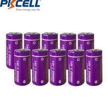 PKCELL Lote de 10 unidades de batería er26500 de litio de 3,6 V, 9000mAh, tamaño C, ER26500, Li SOCl2, baterías no recargables de alta energía