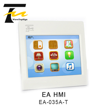 WaveTopSign EA HMI EA-035A-T Outl ine dimension 86×86×40.5mm Mounting hole size 69X69mm