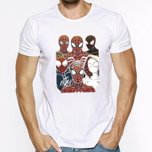 Summer Casual Short Sleeve T Shirt For Men Spider Man Far From Home Print T-shirt Boys Fashion Cotton Short-sleeve Tee