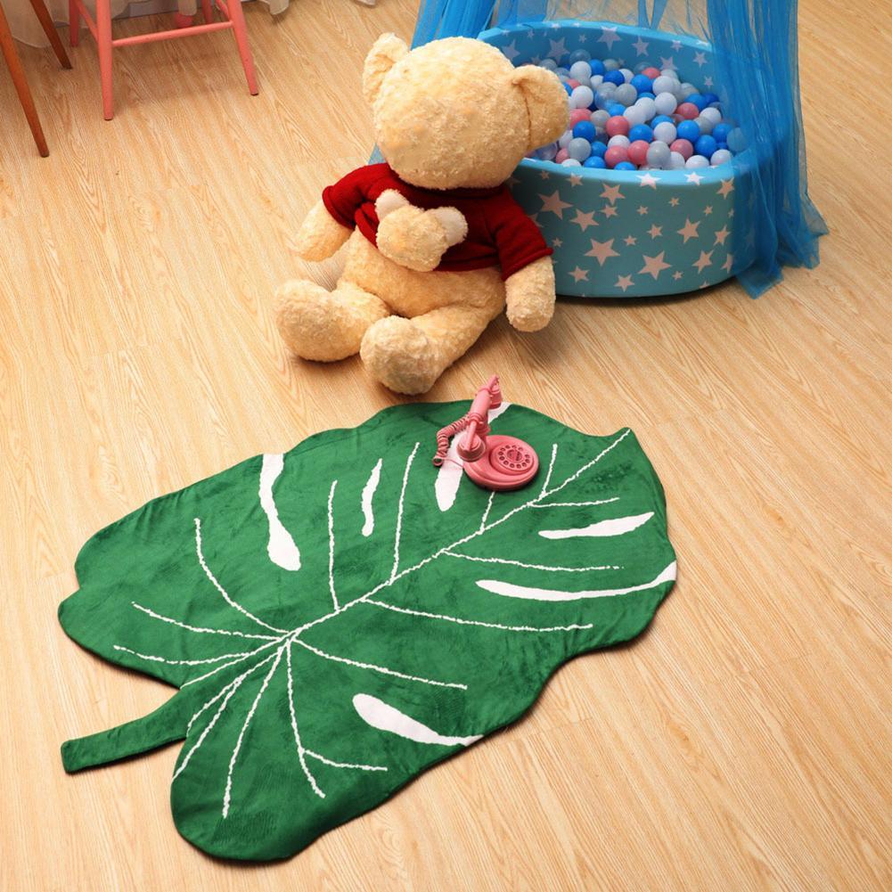Non-slip Soft Banana Leaf Shape Baby Play Mat Kids Crawling Carpet Blanket Rug