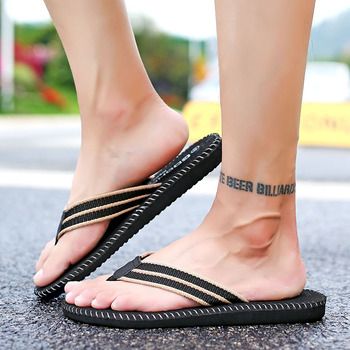 2019 New Summer Men Slippers Handmade Flip Flops Comfortable Breathable Beach Sandals non-slip Classic Casual Flats Shoes 2020 summer cool rhinestones slippers for male gold black loafers half slippers anti slip men casual shoes flats slippers wolf