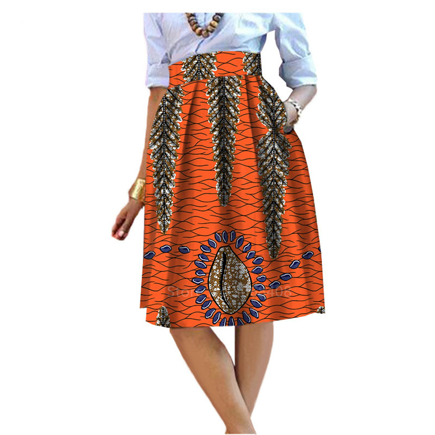 2020 African Style Garment Skirt Traditional Clothing For Women Female Wax Print Dashiki Dress Fashion Casual Cotton Maxi Skirt
