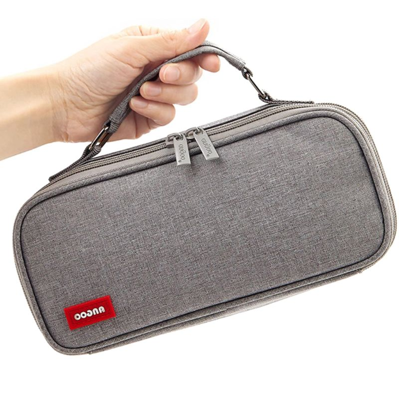 Double Layer Large Capacity Pencil Case Cosmetic Bag Makeup Pouch School Office