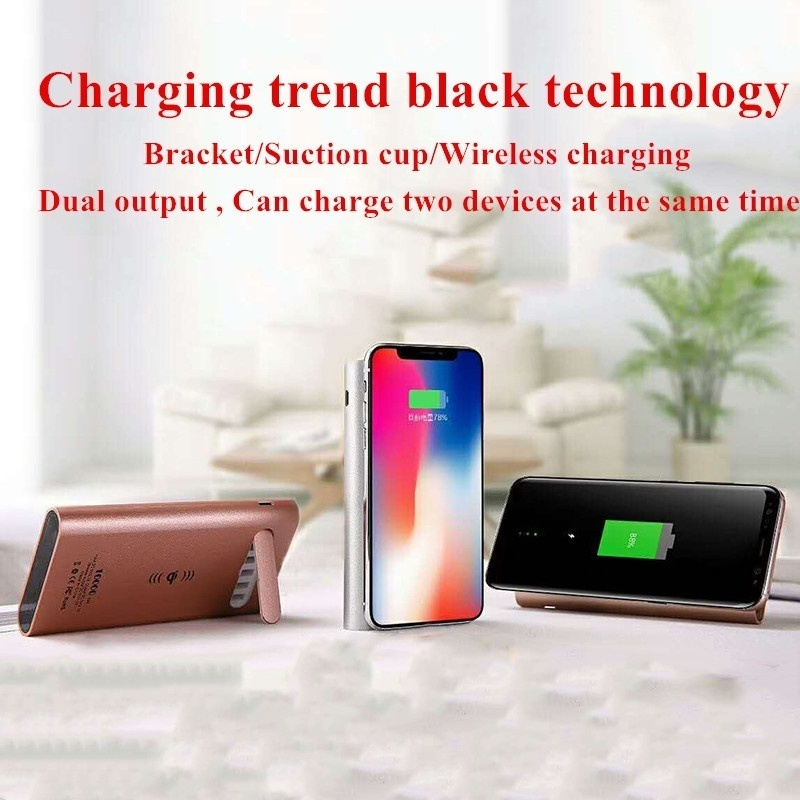 Wireless Power Bank  10000mAh  Cell Phone Charger Smart   Li-polymer Battery  Mobile Battery    Accessories