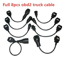 цены на Free ship truck cables OBDii OBD2 Full Set 8 Car Cables of Car For VD TCS CDP Parts diagnostic Tool for delphis for vd ds150e  в интернет-магазинах