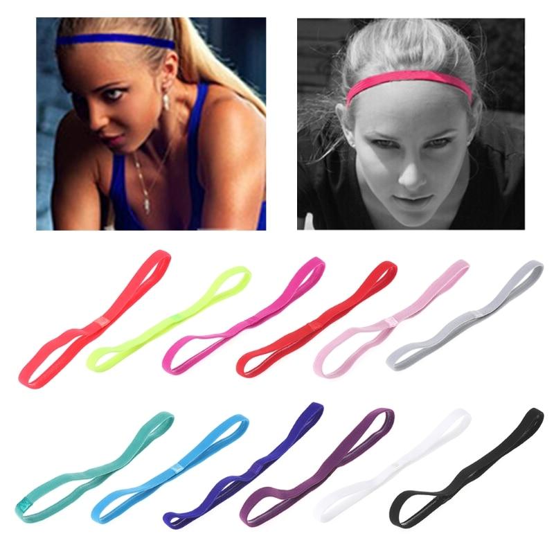 Спортивная резинка для волос, эластичная Нескользящая лента для йоги, аксессуар для упражнений, конфетных цветов, для мужчин и женщин, G99D