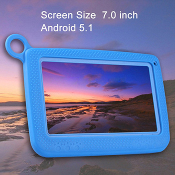 7Inch Kids Tablet PC Quad Core 1GB ARM 8GB ROM WiFi Android 4.4 HD Dual Camera With Silicone Case PR Sale