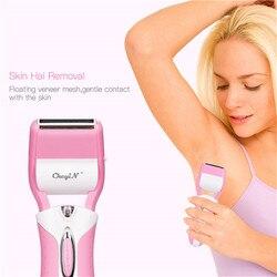 3 in1 recarregável feminino shaver barbear depilação barbear navalha lady trimmer depilador para rosto, corpo, perna, axilas 47