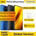 Глобальная версия POCO X3 6 ГБ 64 Гб/128 Гб Смартфон Snapdragon 732 Octa Core NFC 120 Гц 6,67
