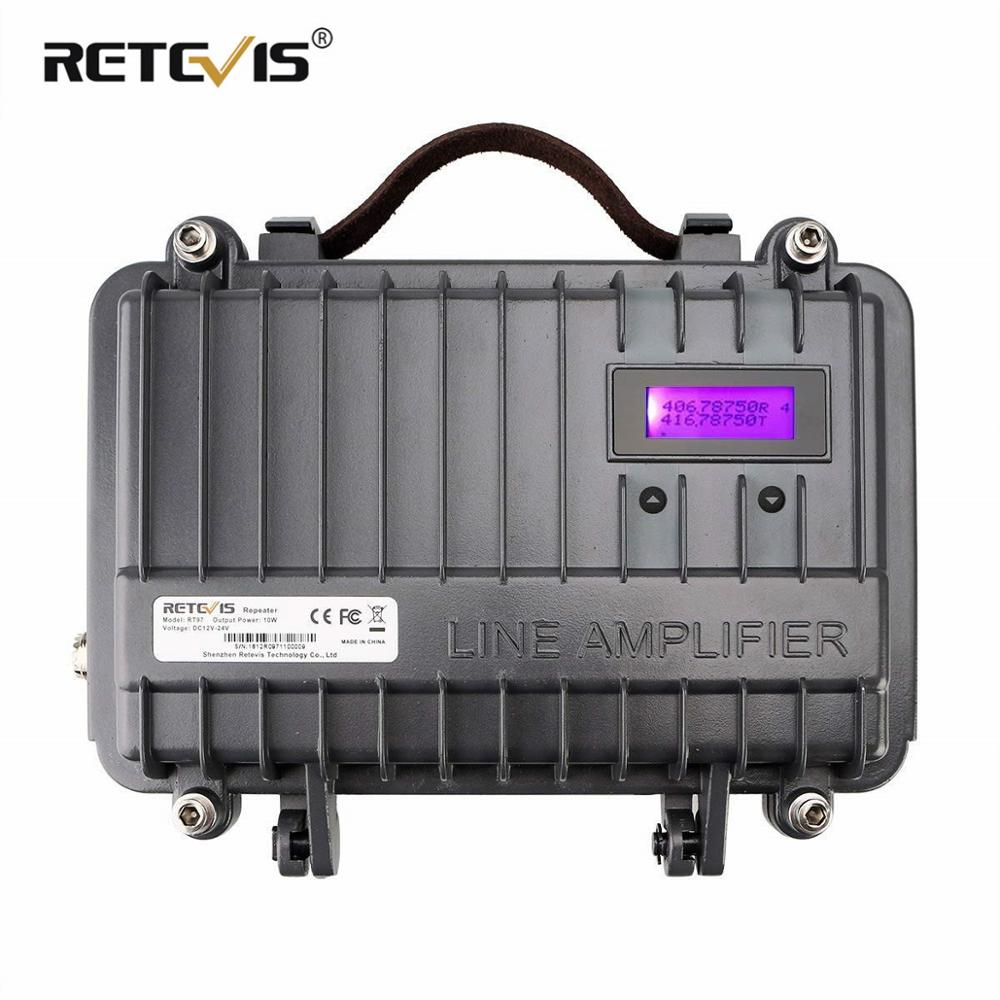 Customizable Full Duplex Mini Analogue Repeater RETEVIS RT97 Two Way Radio Repeater 10W UHF (or VHF) Repeater For Walkie Talkie