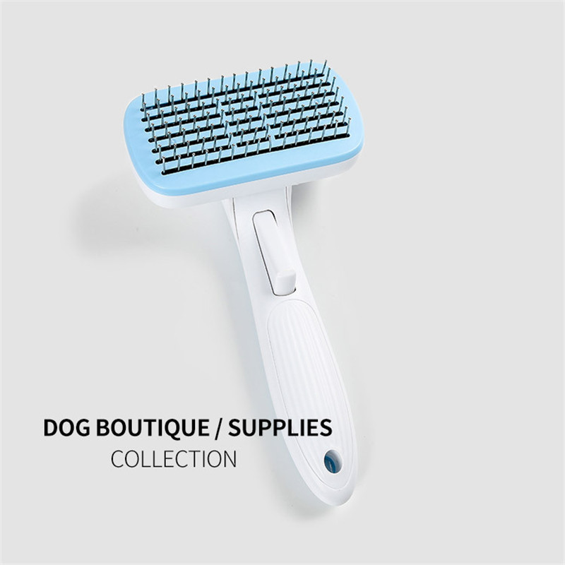 Pet Comb Automatic Hair Comb Dog Self-Cleaning Comb Cats Open Knot Gill Pet Cleaning Supplies