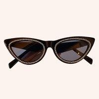 Cat Eye Sunglasses Women Vintage Gradient Retro Diamonds Sun glasses Female Eyewear UV400