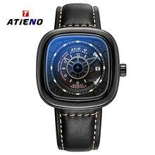 Watches Mens 2020 Unique Design Men's Luxury Modern Male Leather Hip Popular Men's Quartz Watch Wristwatches For Men Watch Man