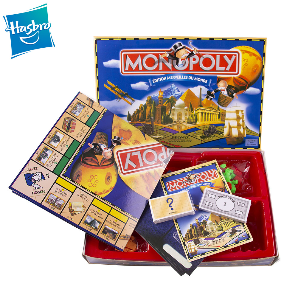 Hasbro Gaming Monopoly Edition Wonders Of The World  FRENCH Version Monopoly Game Classic Board Game Kids Toy Gift