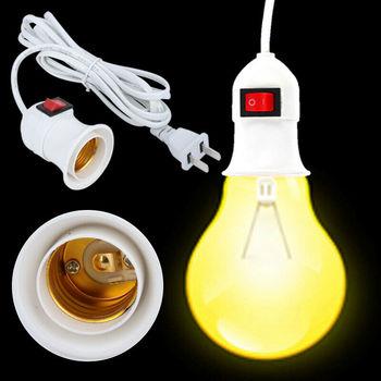 E27 2 3M kabel wtyczka przewodu w lampa wahadłowa uchwyt żarówki z przełącznikiem American Plug świecznik Adapter Converter tanie i dobre opinie CN (pochodzenie)