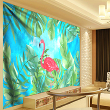 купить Flamingo Tapestry Tropical Plant Wall Hanging Boho Hippie Tapestry Wedding Wall Decoration Bedspread Beach Towel Yoga Picnic Mat по цене 454.56 рублей