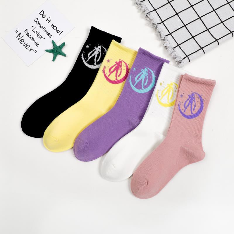 Sailor Moon College Style School Students Short Socks Autumn Winter Fashion Women Vintage Cotton Sock Female In Tube Sock