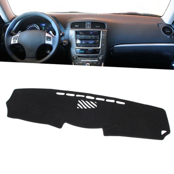 Black Auto Dash Mat Dashboard Cover Dashmat For Lexus IS200 IS250 IS350 IS300 2006 2010 2011 2012 2013 Left Drive