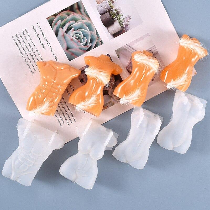 ボディ形状シリコンモールドdiyクリスタルエポキシ樹脂キャンドルモールド手工芸品ジュエリー装飾アクセサリ人体形状ツール