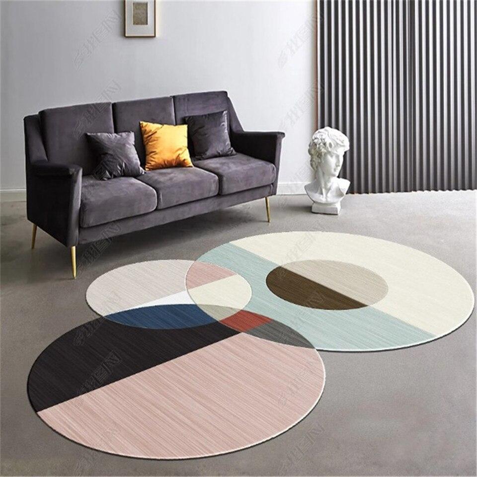 Europe tapis moderne pour Table basse spécial forme irrégulière tapis décoratifs pour sol tapis géométrique nordique 80X160CM