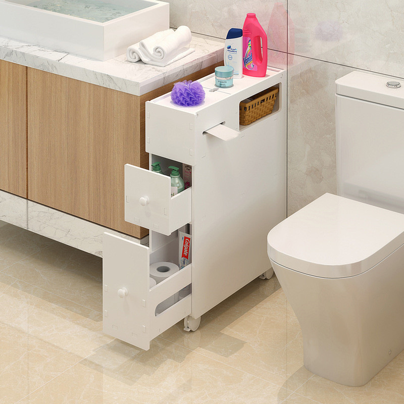 Toilet Shelves Toilet Side Cabinet Shelves Waterproof Bathroom Floor Bathroom Clip Storage Shelf Supplies Storage Rack