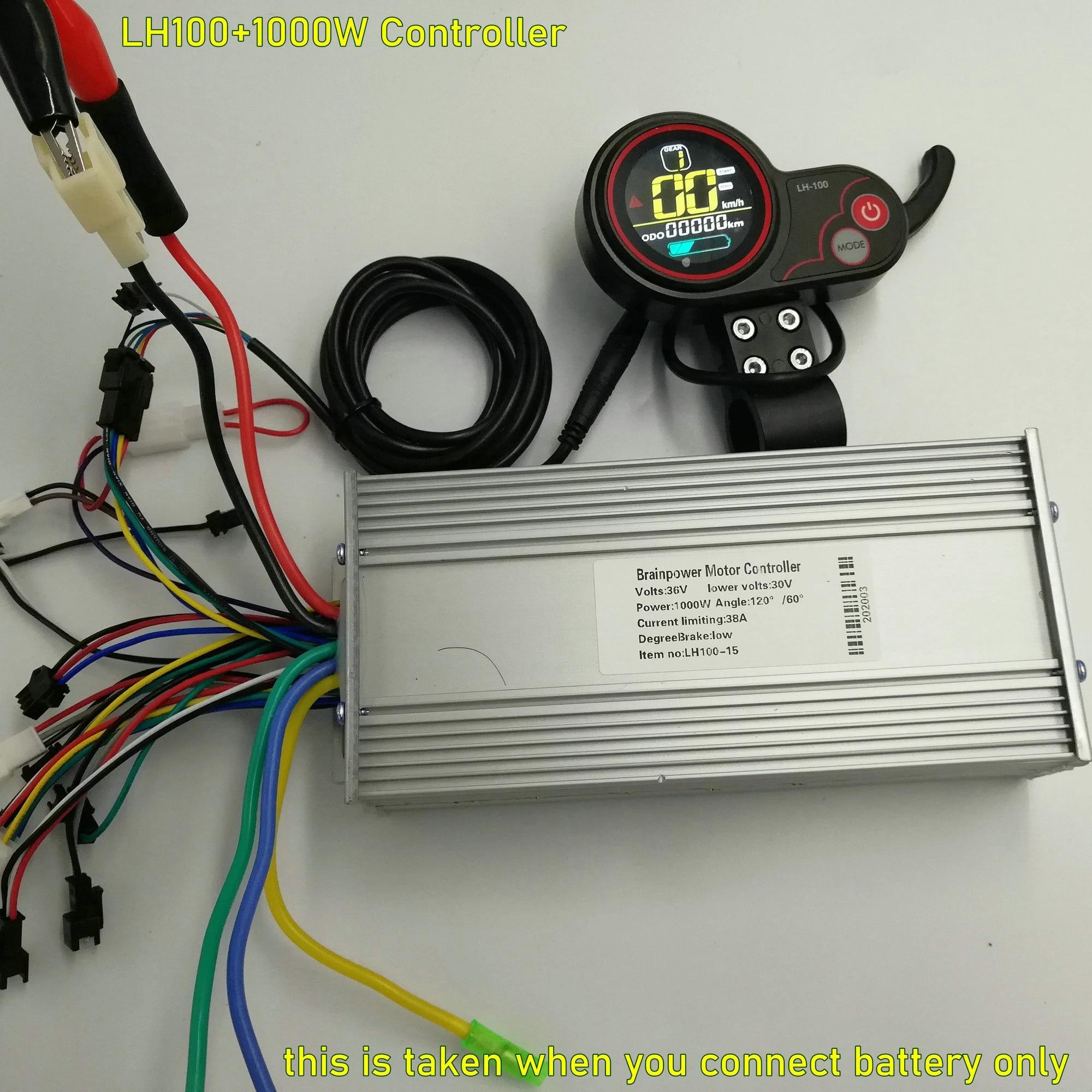 36v48v60v 800w1000w 15 Mosfet Controller+Display LH100 Control Panel  Electric Bike MTB SKATEBOARD Instrument ScooterParts|electric panel parts| control panelcontroller control - AliExpressAliExpress