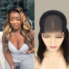 Roselover Highlight Lace Closure Wig Remy Brazilian Human Hair Wigs Pre Plucked Hairline With Baby Hair(China)