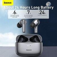 Baseus-auriculares inalámbricos S2 TWS ANC con Bluetooth, cascos auténticos con cancelación de ruido y 4 micrófonos, compatible con carga inalámbrica