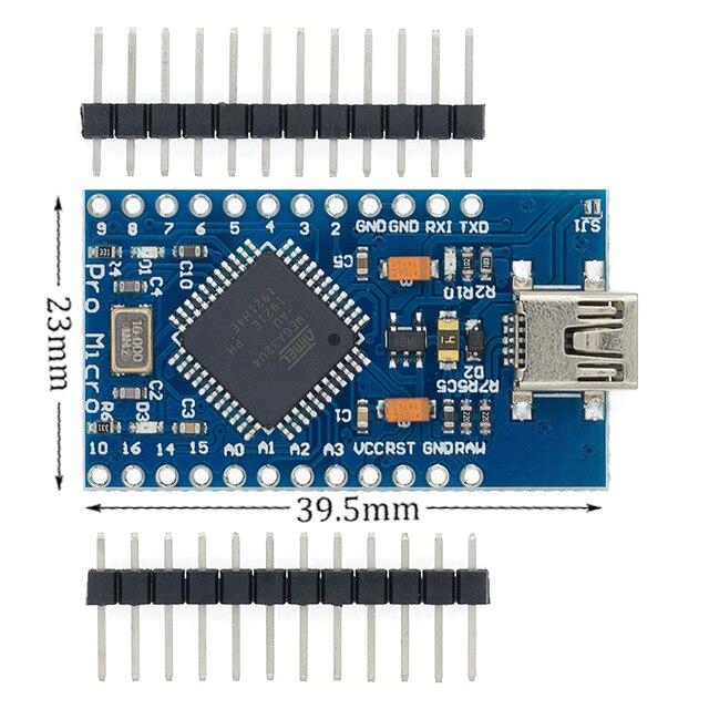 Плата Mini USB ATmega32U4 Pro Micro 5 в 16 МГц, модуль для контроллера Leonardo ATMega 32U4 Pro-Micro, замена Pro Mini для Arduino
