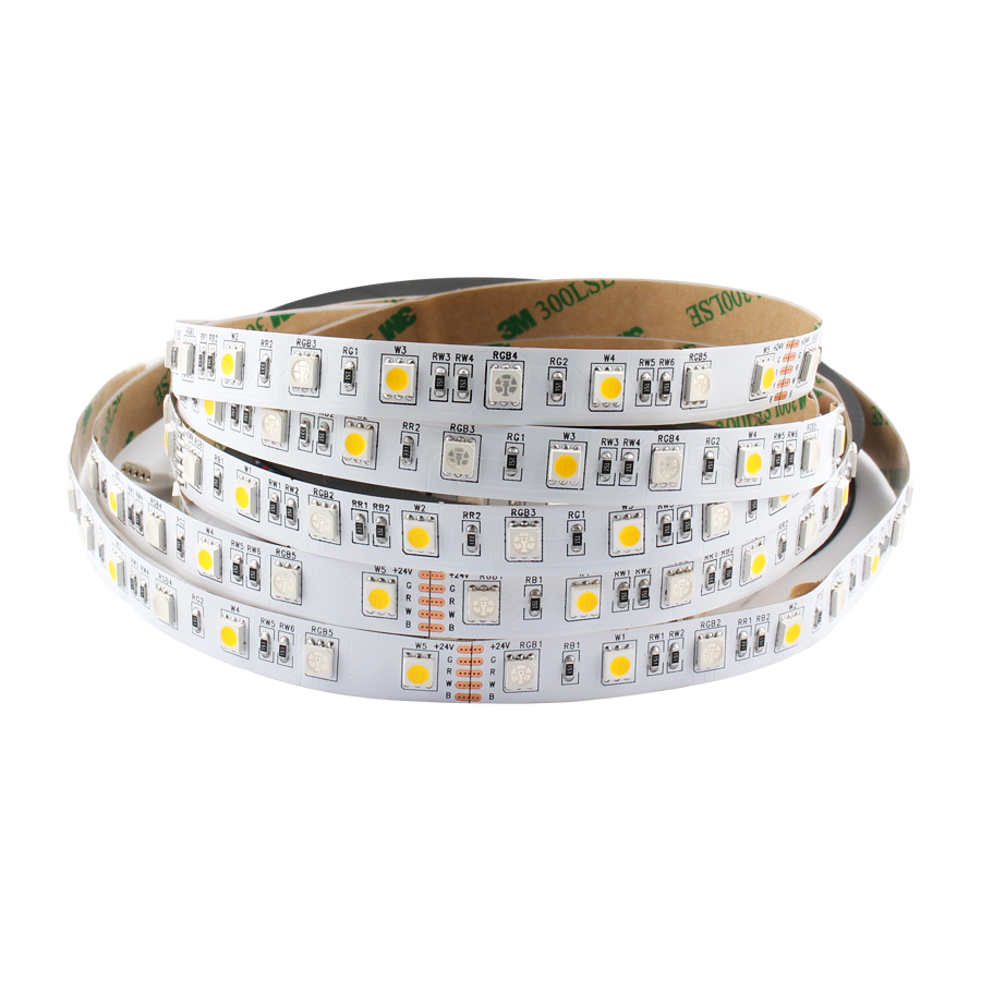 LED Light Strip 12V 24V RGB RGBW RGBWW PC SMD 5050 60Led/s 5 M 12 24 V Volt LED Strip Lights Waterproof Lamp Ribbon TV Backlight
