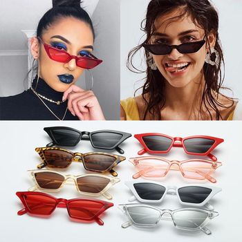 New Vintage Cat Eye Sun Shades glasses  Fashion Women Small Frame UV400  SunGlasses Street Eyewear Luxury Trending Sunglasses