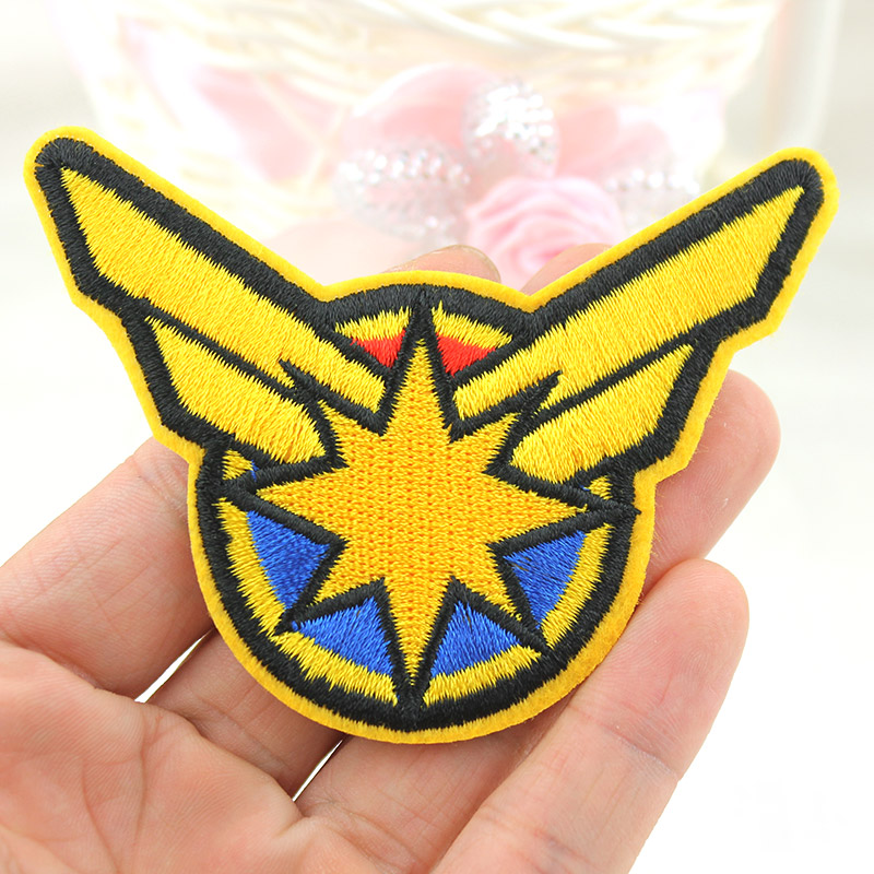 Cartoon Hero Captain <font><b>Marvel</b></font> Full Embroidery Iron on <font><b>Patches</b></font> <font><b>for</b></font> <font><b>clothing</b></font> DIY Boy Badges Stickers Appliques wholesale image